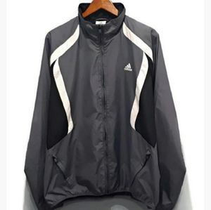 VINTAGE Adidas Windbreaker Track Jacket Zip Pocket